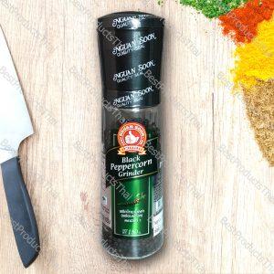 พริกไทยดำพร้อมฝาบด 100% BLACK PEPPERCORN GRINDER ขนาด 150 กรัม บรรจุขวดพลาสติกพร้อมฝาบด- BestProductsThai.com