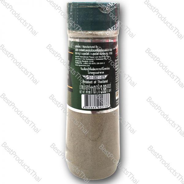 พริกไทยดำป่น 100% GROUND BLACK PEPPER ขนาด 110 กรัม บรรจุขวดพลาสติก- BestProductsThai.com