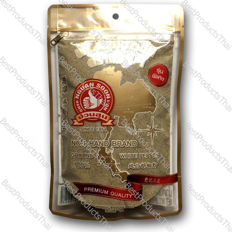 พริกไทยขาวป่น 100% GROUND WHITE PEPPER ขนาด 200 กรัม บรรจุซอง- BestProductsThai.com