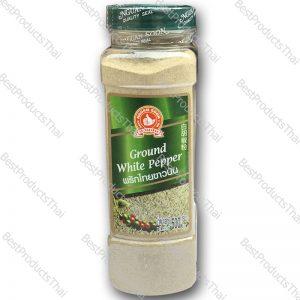 พริกไทยขาวป่น 100% GROUND WHITE PEPPER ขนาด 500 กรัม บรรจุขวดพลาสติก- BestProductsThai.com