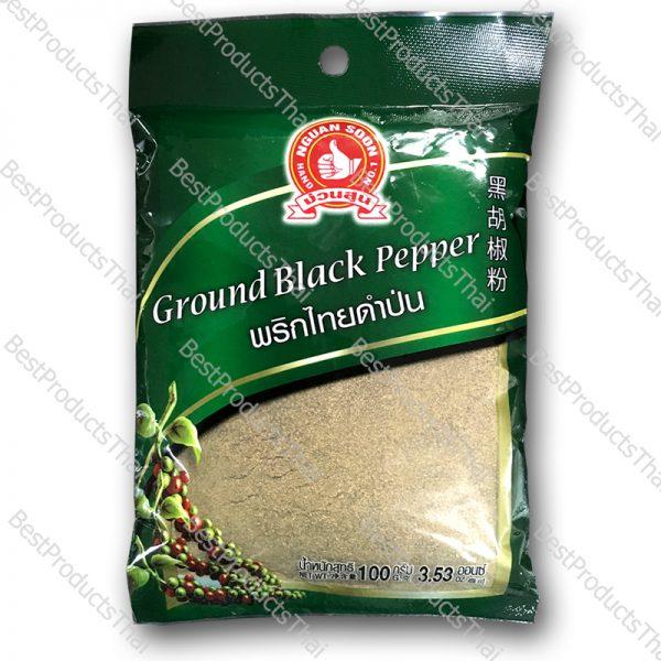 พริกไทยดำป่น 100% GROUND BLACK PEPPER ขนาด 100 กรัม บรรจุซอง- BestProductsThai.com