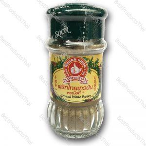 พริกไทยขาวป่น 100% GROUND WHITE PEPPER ขนาด 60 กรัม บรรจุขวดแก้ว- BestProductsThai.com