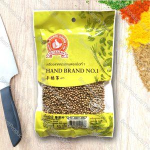 เม็ดผักชี หรือลูกผักชี 100% CORIANDER SEED ขนาด 50 กรัม บรรจุซอง- BestProductsThai.com