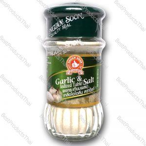 ผงกระเทียมผสมเกลือไอโอดีน 100% GARLIC & IODIZED TABLE SALT ขนาด 50 กรัม บรรจุขวดแก้ว- BestProductsThai.com