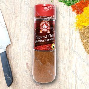 พริกขี้หนูป่นละเอียด 100% GROUND CHILI ขนาด 100 กรัม บรรจุขวดพลาสติก- BestProductsThai.com
