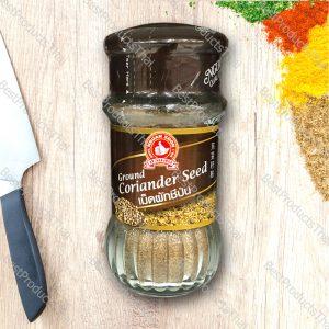 เม็ดผักชีป่น หรือลูกผักชีป่น 100% GROUND CORIANDER SEED ขนาด 35 กรัม บรรจุขวดแก้ว- BestProductsThai.com