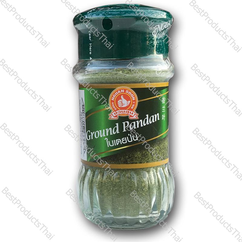 ใบเตยป่น 100% GROUND PANDAN ขนาด 20 กรัม บรรจุขวดแก้ว- BestProductsThai.com