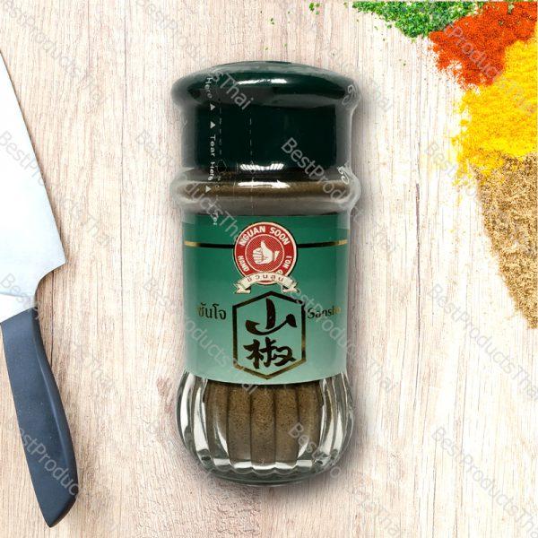 ซันโจ หรือพริกไทยญี่ปุ่น (ชวงเจียปักกิ่งป่น) 100% SANSHO (JAPANESE PEPPER) ขนาด 40 กรัม บรรจุขวดแก้ว- BestProductsThai.com