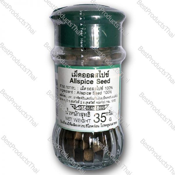 เม็ดออลสไปซ์ 100% ALLSPICE SEED ขนาด 35 กรัม บรรจุขวดแก้ว- BestProductsThai.com