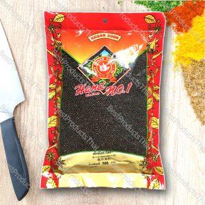 เม็ดมัสตาร์ด (ดำ) 100% BLACK MUSTARD SEED ขนาด 500 กรัม บรรจุซอง- BestProductsThai.com