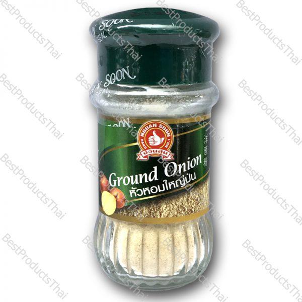 หัวหอมใหญ่ป่น 100% GROUND ONION ขนาด 35 กรัม บรรจุขวดแก้ว- BestProductsThai.com