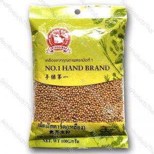 เม็ดมัสตาร์ด (เหลือง) 100% YELLOW MUSTARD SEED ขนาด 100 กรัม บรรจุซอง- BestProductsThai.com