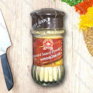 ผงซอสมัสตาร์ด 100% MUSTARD SAUCE POWDER ขนาด 45 กรัม บรรจุขวดแก้ว- BestProductsThai.com