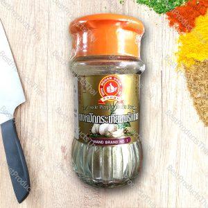 ผงหมักกระเทียมพริกไทย 100% THAI STYLE PEPPER GARLIC POWDER ขนาด 50 กรัม บรรจุขวดแก้ว- BestProductsThai.com