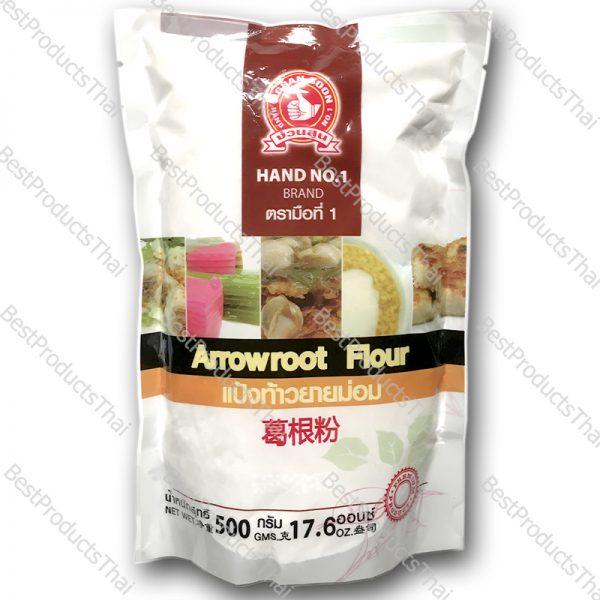 แป้งท้าวยายม่อม 100% ARROWROOT FLOUR ขนาด 500 กรัม บรรจุซอง- BestProductsThai.com
