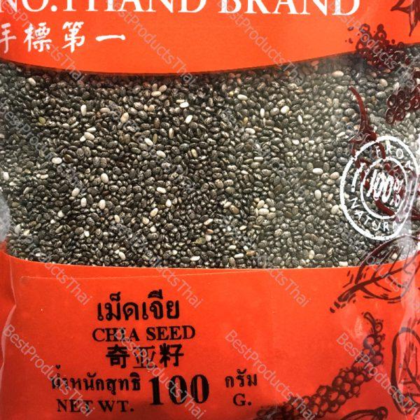 เมล็ดเจีย 100% CHIA SEEDS ขนาด 100 กรัม บรรจุซอง- BestProductsThai.com