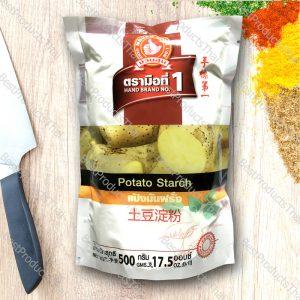 แป้งมันฮ่องกง แป้งมันฝรั่ง 100% POTATO STARCH ขนาด 500 กรัม บรรจุซอง- BestProductsThai.com