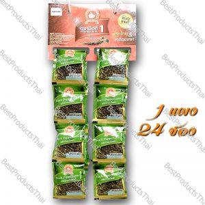 พริกไทยดำเม็ด 100% BLACK PEPPERCORN ขนาด 10 กรัม บรรจุ 24 ซอง/แพ็ค- BestProductsThai.com