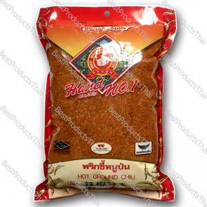 พริกขี้หนูป่นหยาบ 100% CRUSHED CHILI ขนาด 500 กรัม บรรจุซอง- BestProductsThai.com